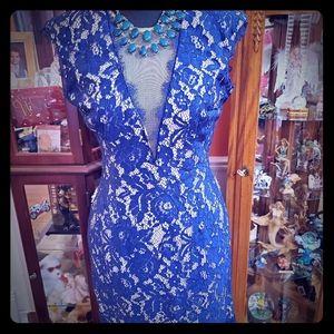 Aidanmattox Lace Cocktail Dress